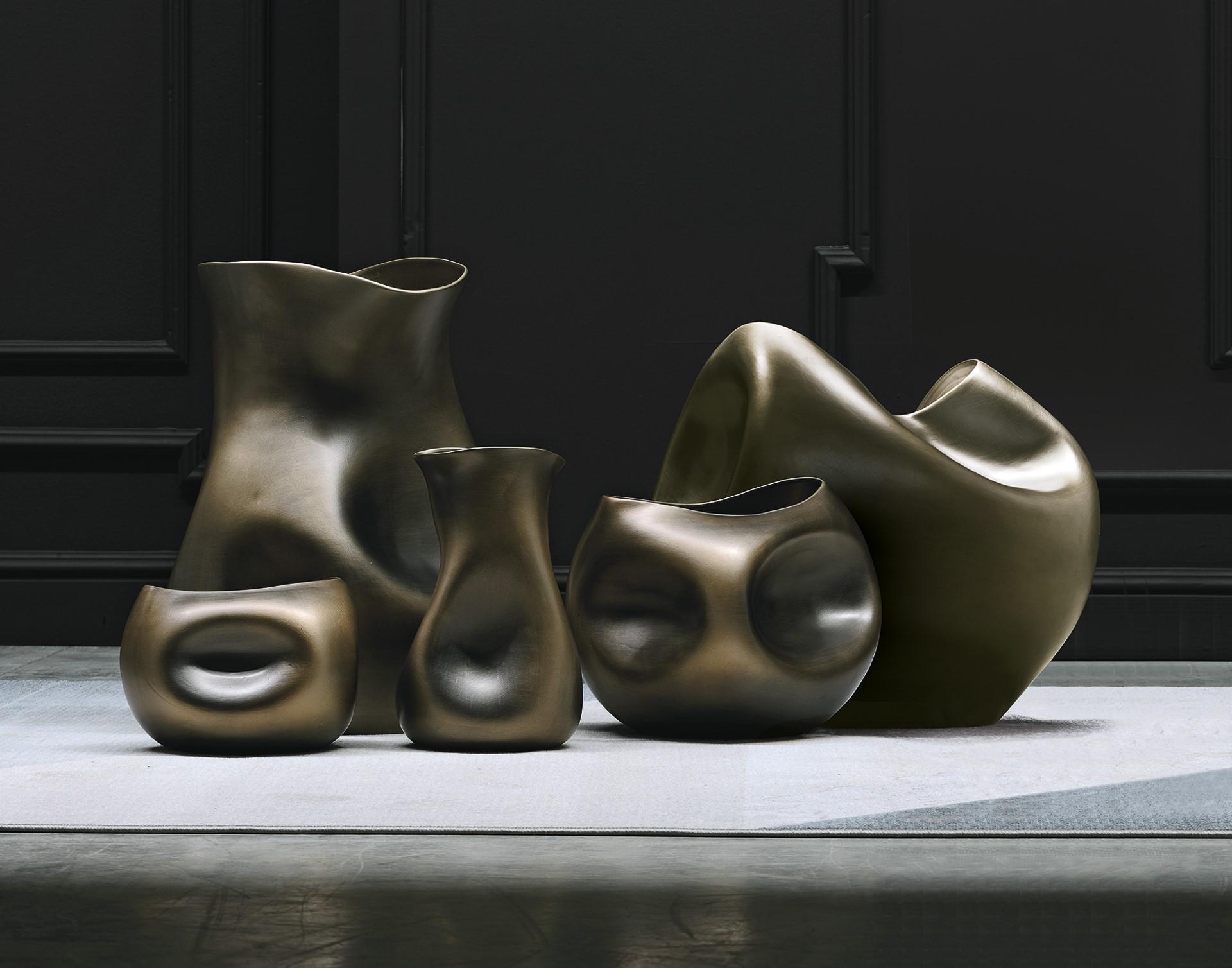 vasi in ceramica metallizzata